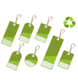 recycle tags vector image vector image