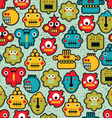 Robot Heads Pattern vector image vector image