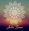 Mandala Indian Summer Design vector image