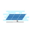 flat solar panel power plant vector image