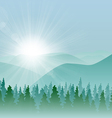 Forest Mountain Background vector image