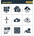 Icons set premium quality of eco friendly green vector image