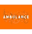 Medicine concept design ambulance vector image