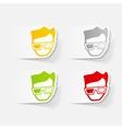 realistic design element 3d glasses vector image