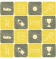 Seamless pattern with tennis icons vector image