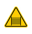 warning sign symbol with barbed wire fence note vector image