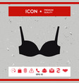 woman underwear the silhouette menu item in the vector image