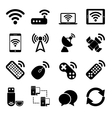 Wireless Devices Icons Set vector image vector image