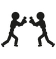 boxing man sign black icon vector image