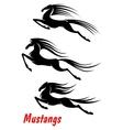 Wild horse mustangs and stallions vector image vector image