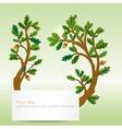 Oak leaves banner vector image