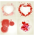romantic greeting cards vector image