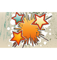 Abstract background of explosion stars in graffity vector image