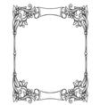 Vintage decorative floral frame vector image