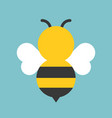 cute bee icon flat design vector image