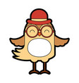 cute vintage bird cartoon vector image
