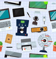 group computer office equipment office vector image