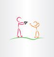 man pointing gun killer icon vector image