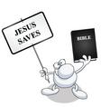 man sign bible vector image