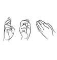 praying hands hands in different interpretations vector image