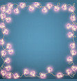valentines day card with glowing lights heart vector image