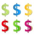 Paper Dollar Symbols vector image