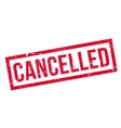 Cancelled rubber stamp vector image