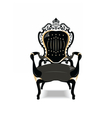 Vintage Baroque Golden Chair vector image