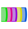 colorful combs vector image vector image