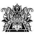 lotus tattoo vector image