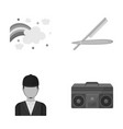 leisure port business and other monochrome icon vector image