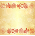 Gold glowing seamless christmas pattern vector image vector image
