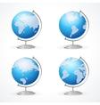 school Globe set isolated on white vector image vector image