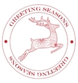 Greeting season stamp red vector image vector image
