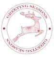 Greeting season stamp red vector image