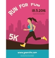 woman running jogging - colorful vector image vector image