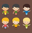 boy portrait fun happy young expression cute vector image