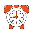 clock with alarm bells vector image