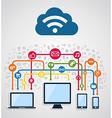 Cloud computing network vector image