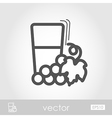 Glass fresh grape juice outline icon Thanksgiving vector image