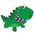 running funny dino vector image