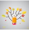 Shiny Autumn Natural Tree Background vector image