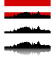 silhouette of salzburg vector image