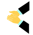 Clapping hands logo vector image vector image