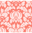 vintage damask seamless salmon pattern vector image vector image