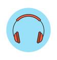 headphones flat line icon vector image
