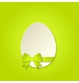 Easter egg with a bow template vector image vector image