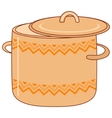 pan with pattern vector image vector image