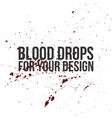 Blood Drops Texture Splatter Background vector image