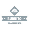 burrito logo simple gray style vector image